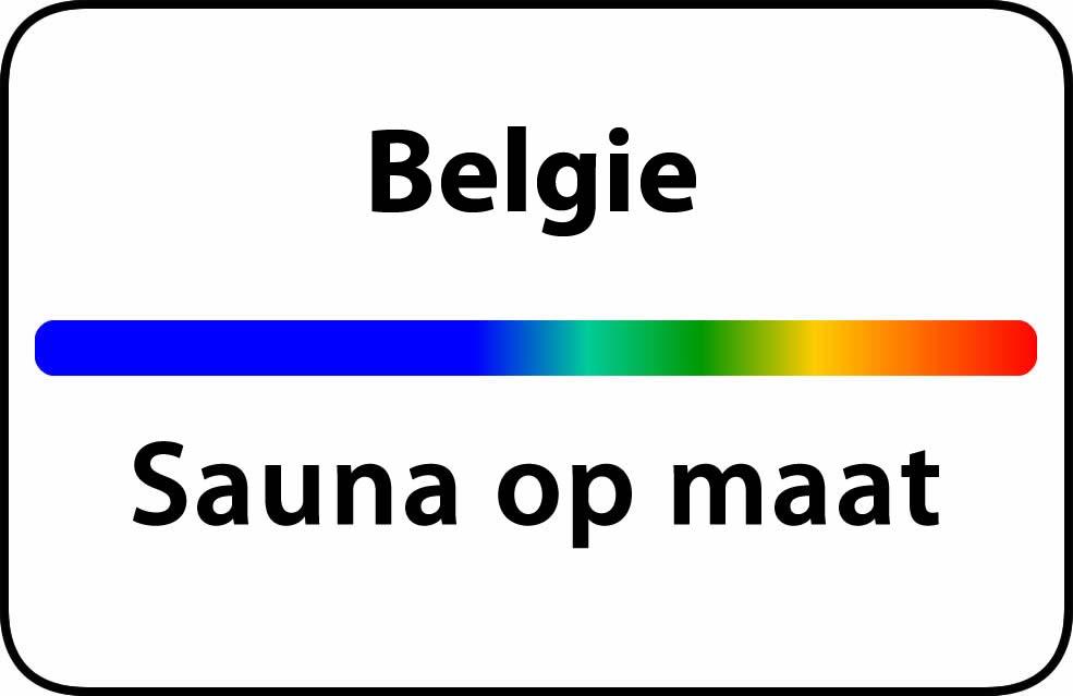 Sauna op maat in belgie