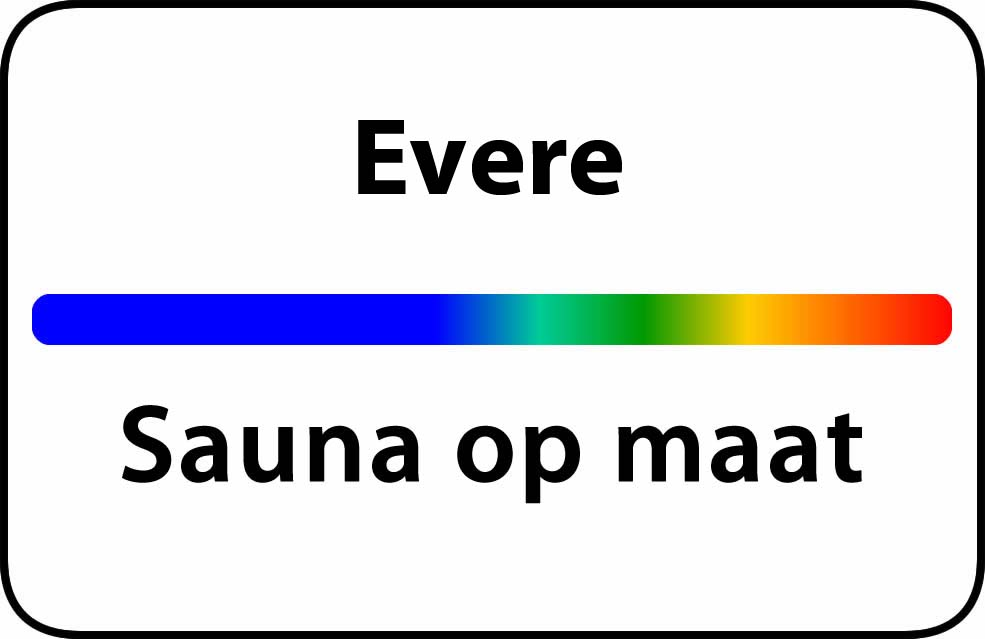 Sauna op maat in evere