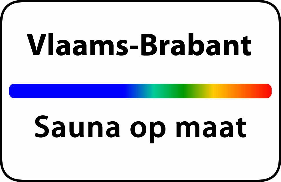 Sauna op maat in Vlaams Brabant